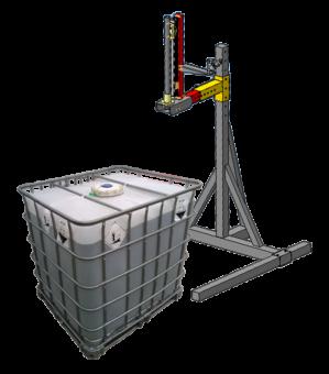 Установка розлива в Еврокубы 1000 литров и бочки 200 литров жидких и густых продуктов
