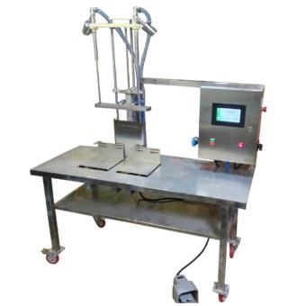 Весовой дозатор настольный для розлива пенящихся продуктов. Полуавтомат розлива продукции.