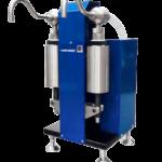 Поршневой двухканальный дозаторУД-2П для фасовки жидких продуктов с твердыми включениями.