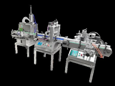 Автоматическая линия розлива, укупорки и этикетировки во флаконы от 20 до 500 мл.