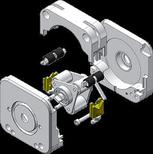 Перистальтическая головка KZ25 в разборе