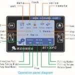 Перистальтический насос дозатор SG600FC панель управления